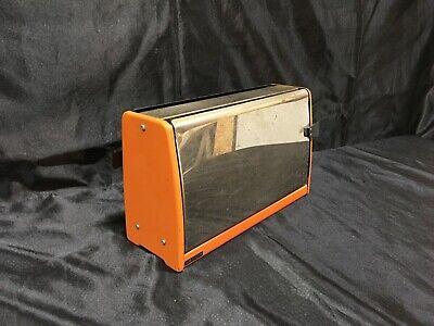 Ancien Toaster/Grille pain vintage années 70 orange et chrome Marque SEDOR