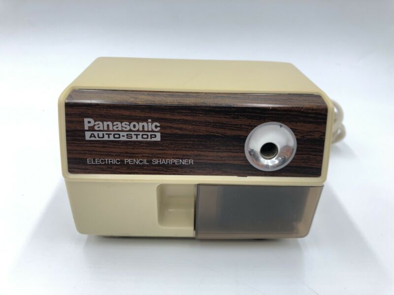Vintage Panasonic Auto-Stop Electric Pencil Sharpener Desktop KP-110 TESTED