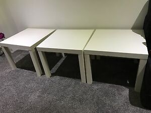 4 white side tables + 1 black side table Pagewood Botany Bay Area Preview