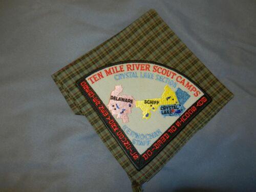 "VINTAGE ""RARE"" TEN MILE RIVER SCOUT CAMP NECKERCHIEF -- CAMP KERNOCHAN STAFF"