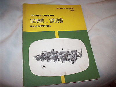 Original John Deere 1260 & 1280 Planter Operator's Manual