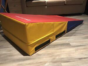 Medium Multi-Color Gymnastics Incline Mat for sale