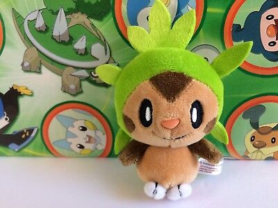 Pokemon Center Chespin Plush Petit Mascot ball keychain stuffed doll figure 2014