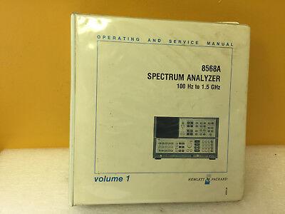 Hp Agilent 8568a Spectrum Analyzer Operating Service Manual Volume 1