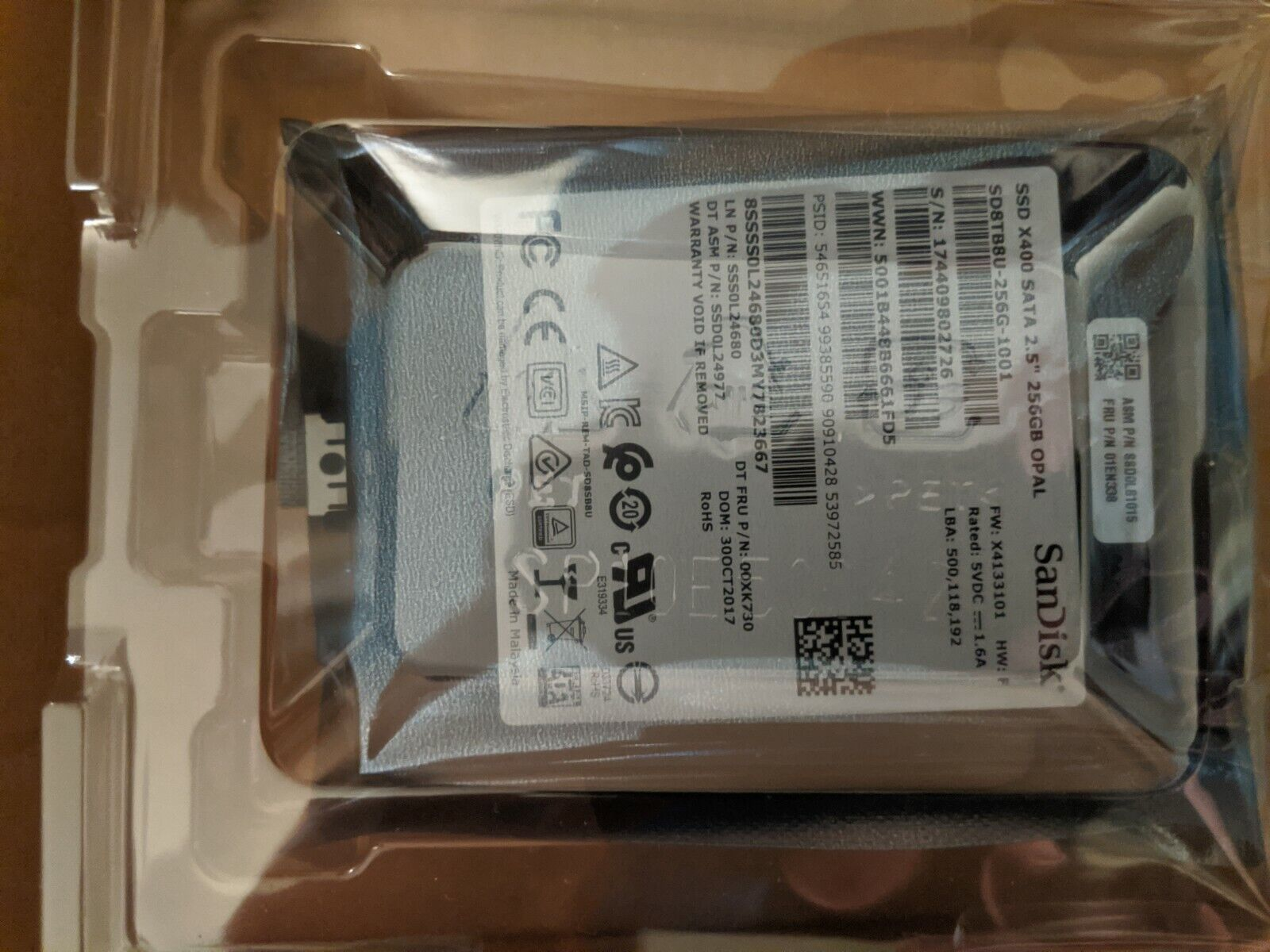 New Genuine 01EN165 For Lenovo ThinkPad Yoga 256GB SSD Hard Drive
