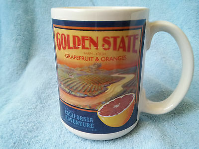 Disney California Adventure Golden State Farm Fresh Grapefruit Oranges Mug