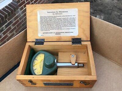 Mikrokator 520 Ec-4 C.e. Johansson Indicator .00005 Wwood Case