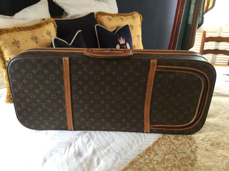 ANTIQUE LOUIS VUITTON MONOGRAM TENNIS TRUNK CASE TRAVEL BAG