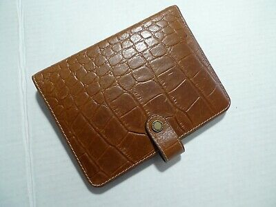 Mulberry - Leather Planner -organizer- A6 Size - Croc Pattern