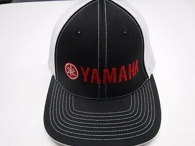 ba703bc8 New Authentic Yamaha Flex Fit Style Mesh Trucker Tuning Fork Hat  (Small/Medium)