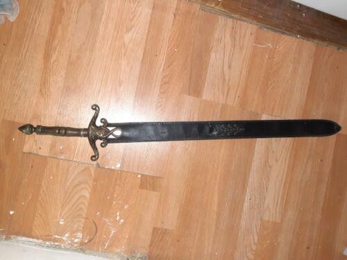 Battle Ready Viking Medieval Sword Round Tip - $41.00