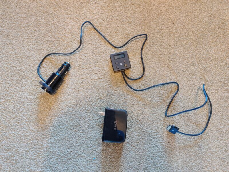Zune FM Transmitter and USB Wall Adapter