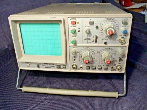 Hameg HM203-4 20MHz 2 Channel Analog Oscilloscope w/ 2 Probes