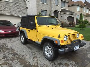 $$$5900$$$ JEEP MANUEL 4 CYLINDRE 2005 $$$5900$$$