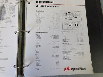 Ingersoll-rand Vr-1044 Telescopic Material Handler Literature