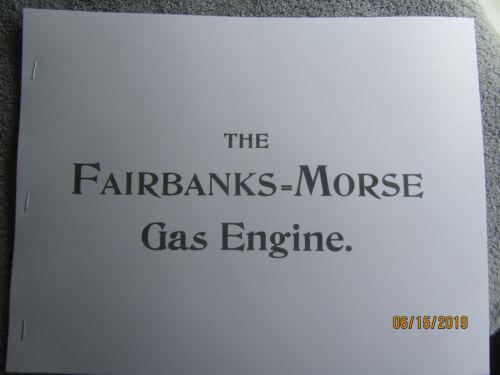 1895 Fairbanks Morse Gas Engine Co.  Engine  Information Catalog  Super Rare!