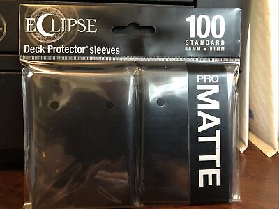 Ultra Pro Eclipse Deck Protector Sleeves Pack of 100 Standard Black Pro Matte