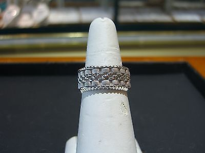 FINE ROLEX OYSTER LINK MEN'S 14 KARAT WHITE GOLD BAND RING SIZE 10 HAND MADE WOW