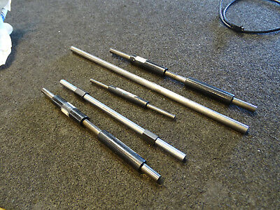 Lot Of 5 Standard End Measuring Rods Starrett Brown Sharpe 6 9 9 10 13 Inch