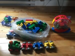 Huge lot of baby duplos - with train