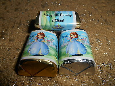 GLOSSY DISNEY SOFIA THE FIRST HERSHEY NUGGET WRAPPERS BIRTHDAY PARTY FAVORS