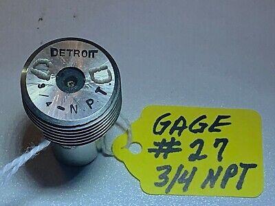 Detroit.-  Thread Plug Gage Pipe - 34-npt