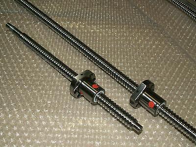 2set Anti Backlash 16mm Lead Screw Rm1605-7001050mm-c7ball Nutend Machine Cnc