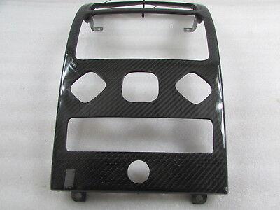 Carbon Fiber Radio Plate - Maserati Quattroporte, Radio Face Plate, Carbon Fiber, Used, P/N  94080699