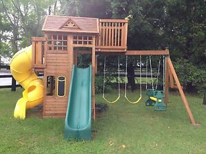 Climbing fort cubby house swing set slide kids playground Erina Gosford Area Preview