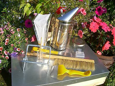 Beekeepers Stainless Steel Smoker And Starter Tool Kit