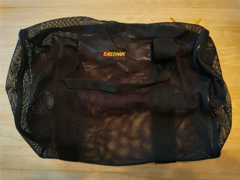Vintage Eastpak Mesh Duffle Bag Black Made in USA