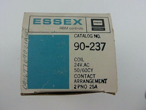 RBM Controls 90-237 ESSEX Coil 24V Contact Arrangement Contactor NOS