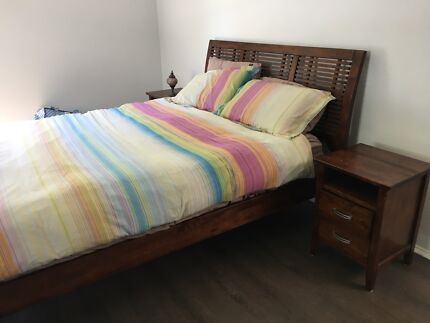 Timber Queen Bed and Mattress