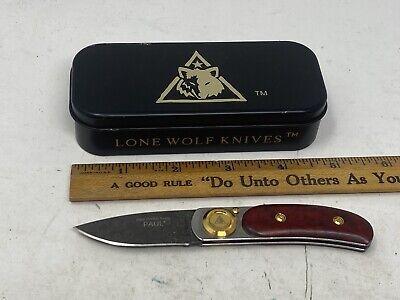 Lone Wolf GERBER Paul Knife LTD Edition Red Handle Damascus Blade 2003