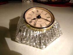 Crystal Legends by Godinger 24% Lead Crystal Quartz Table / Desk Clock