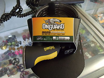 ONGUARD DOBERMAN 8029 COILED CABLE KEY BICYCLE LOCK
