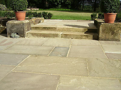 INDIAN SANDSTONE GRADED Patio Paving 18m2 Raj/Autumn/Grey inc VAT & DELIVERY