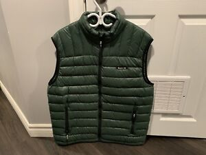 Roots Canada XL Puffer Style Vest Forest Green