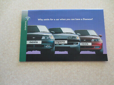 1996 Daewoo cars advertising booklet - UK for sale  Shipping to Canada