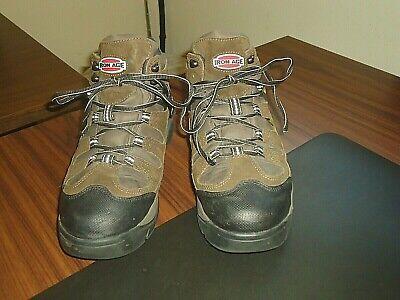 """Iron Age Mens, """"High Ridge"""" Brown Leather, Steel Toe, Work Boot, IA5730, 9.5 W"""