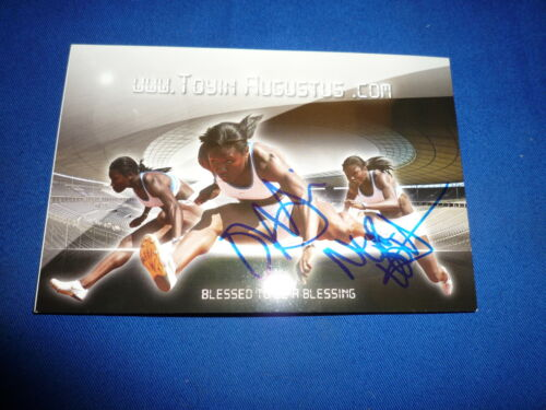 OLUTOYIN AUGUSTUS signed Autogramm 10x15 cm In Person 100m Hürden