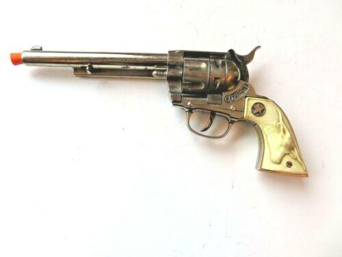 Nickel plated diecast Hubley Cowboy cap gun from 1950