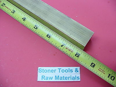 1 X 1 C360 Brass Square Bar 8 Long Solid 1.00 Flat Mill Stock H02
