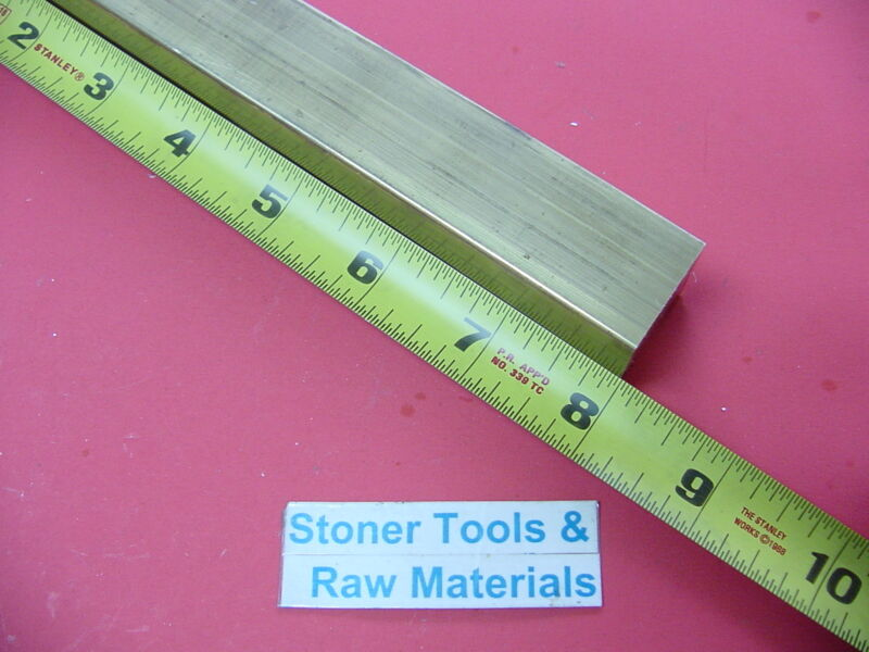 "1"" x 1"" C360 BRASS SQUARE BAR 8"" long Solid 1.00"" Flat Mill Stock H02"