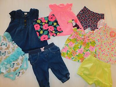 Baby Girl 0-3 Month Summer Shirt Short Pant Dress Bodysuit Clothes Lot FREE SHIP