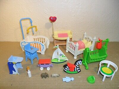 PLAYMOBIL DOLLS HOUSE FURNITURE NURSERY (Victorian,Modern,Cots,Beds,High Cairs)