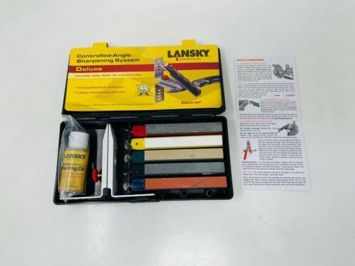 Lansky Deluxe 5-Stone Sharpening System, LKCLX