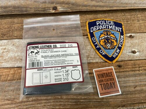 Vintage Strong Leather #310 Shield Badge ID Wallet For NYPD Officers Father Dad