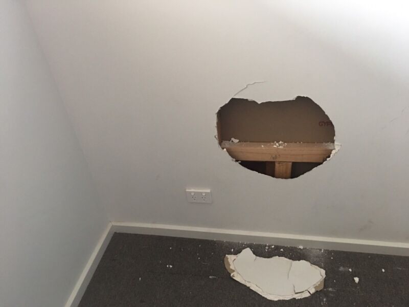 Wall Ceiling Hole Repairs Professional Plaster See Photos