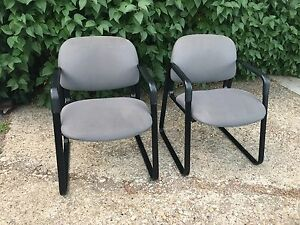 Grey/black waiting room chairs